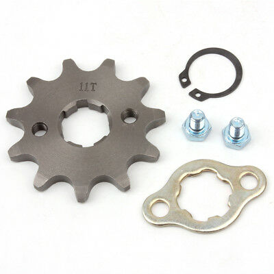 520 11T Front Sprocket with Retainer Plate for Dirt Pit Bike ATV Go-kart