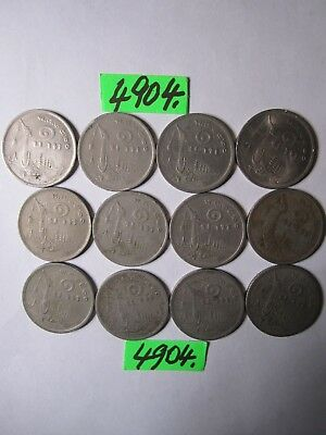 12 x 1 baht culled coins 1977 from Thailand     30   gms      Mar4904