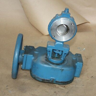 "DeZurik 2"" inch 50mm DN50  BUTTERFLY VALVE WAFER MANUAL GEARBOX ACTUATOR"