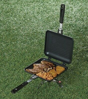 Carp Pro Camping Outdoors Fishing Sandwich Toaster Grill Griddle Fry Pan