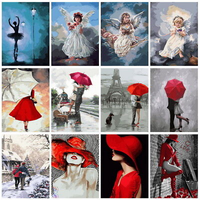 40*50cm DIY Paint By Numbers Kit Oil Painting Art Wall Decor Angel Couple Women