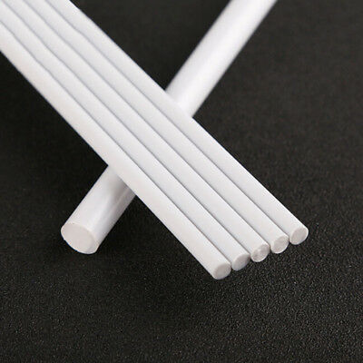 White Plastic Solid Rods Tube Assorted Cylinder Pole For DIY Sand Table Model