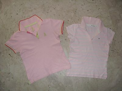LOTTO n. 2 POLO BIMBA IN COTONE TOMMY HILFIGER + REFRIGUE Tg S  8-9  anni