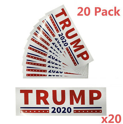 20pc Trump 2020 Campaign President Election Decal Die Cut Stickers Car Bumper US