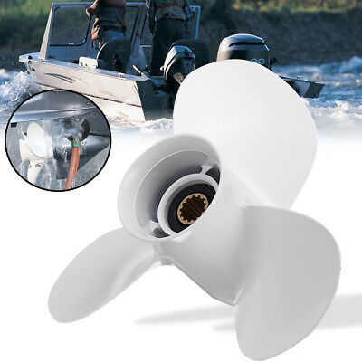 11 1/4 x 14 Aluminum Boat Outboard Propeller For Yamaha 25-60HP 663-45958-01-EL
