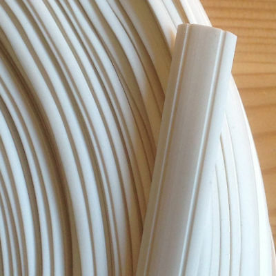 10 m Leistenfüller 12 mm Weiss Profil cache-vis blanc Screw-coverings white