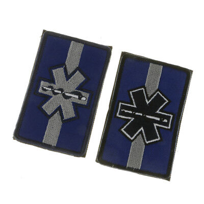 The Star Of Life Embroidered Patch Armband Applique Army Badge With Hook & Loop