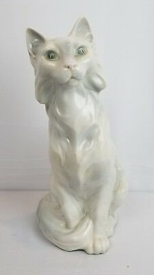"Royal Dux 15"" Porcelain Cat"