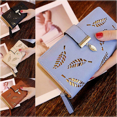 US Fashion Women Leather Clutch Lady Wallet Long PU Card Holder Purse Handbag