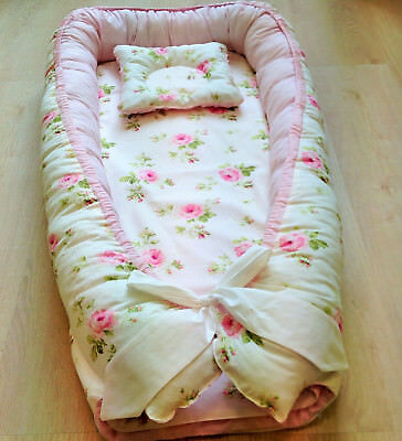 Baby nest baby pillow maxi toddler size crib bedding cotton home baby gift