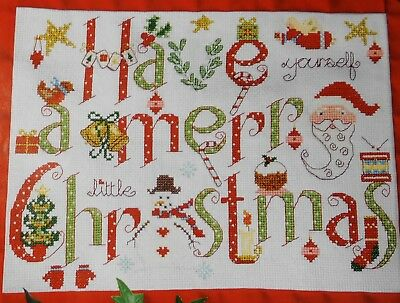 Stickvorlage,Point de Croix,Weihnachten,Have a merry Christmas,Sampler,Noel,Dmc