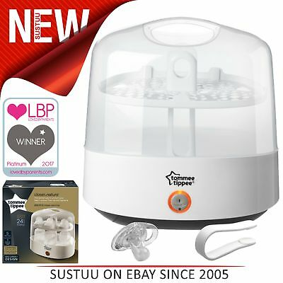Tommee Tippee Closer to Nature Electric Steam Steriliser│Chemical-Free│Compact