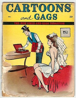Cartoons and Gags Vol. 2 No. 6 - First issue - Bill Wenzel color cover