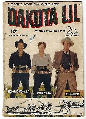 Dakota Lil - Fawcett Movie Comics - George Montgomery, Rod Cameron photo cover