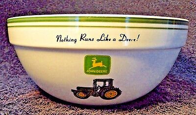 """Gibson John Deere Small Mixing Serving Bowl 8"""" Tractor EXCELLENT"""