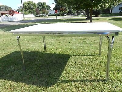 The Watertown Slide by Table Slide Corp Vintage Formica Chrome Kitchen Table
