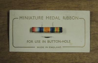 Very Nice Miniature Medal Ribbon Button Hole Made In England