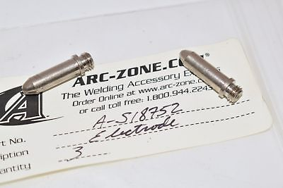 Lot of 2 NEW Arc-Zone S18752 Electrode's for Pro-Cut 60 Systems with PCT-60 Plas