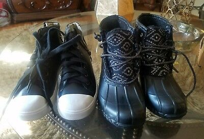 Kids  Girls Shoe Lot Size 5 Nice shoes Justice boots and Mark. Shoes 3 pairs
