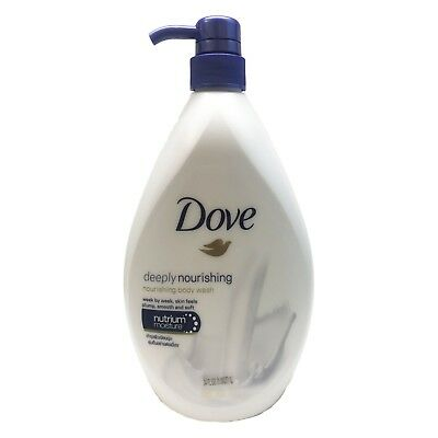 Dove Deeply Nourishing Body Wash Pump, 34 oz