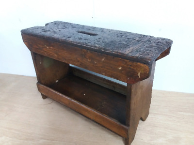 Unique rustic charm upcycled barn find carpenters bench vintage worn shabby chic