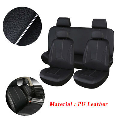 PU Leather Car Seat Cover Full Set Front Rear Seat Cushion Mat Protector Latest