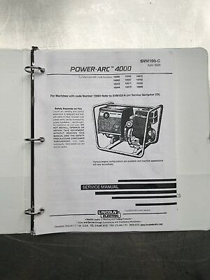 Lincoln Electric Power Arc 4000 Service Manual SVM103C
