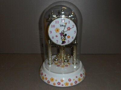 Disney Minnie Mouse Anniversary Clock with Glass Dome