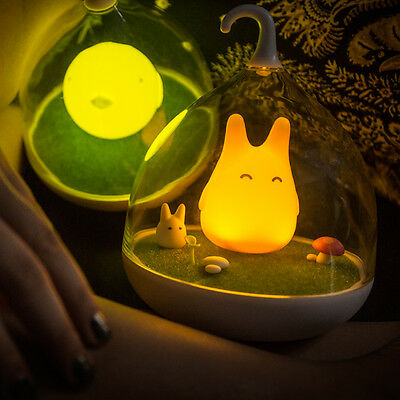 Cute Totoro Bird Portable Touch Sensor USB LED Night Light Bedroom Charging Lamp