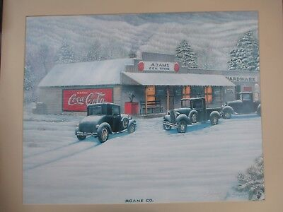 Coca-Cola Jim Simpson Roane County General Store Limited Print SIGNED NUMBERED!
