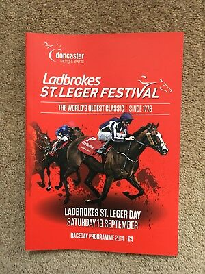 2014 St Leger Programme/Racecard - Doncaster 19/9/14 won by Kingston Hill