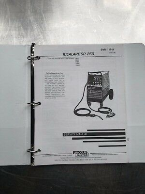 Lincoln Electric Idea Arc SP-250 Service Manual SVM111A