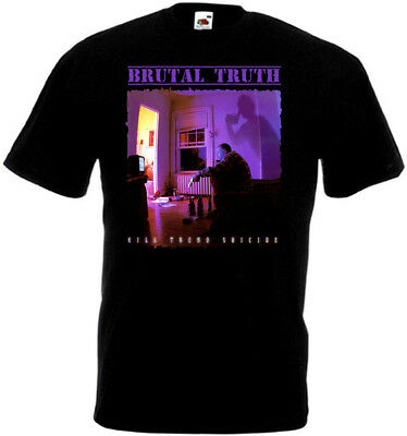 Brutal Truth v10 Kill Trend Suicide T-shirt black grindcore all sizes S-5XL