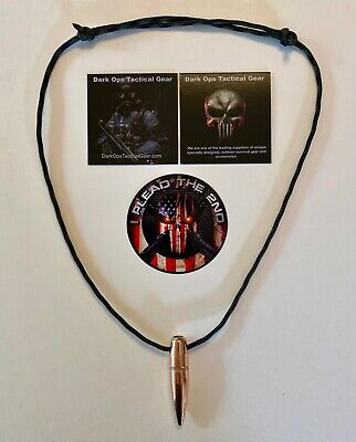 .50 Cal Sniper HOG TOOTH Paracord ...Necklace ...+ 1 Decal     ...Wood Camo