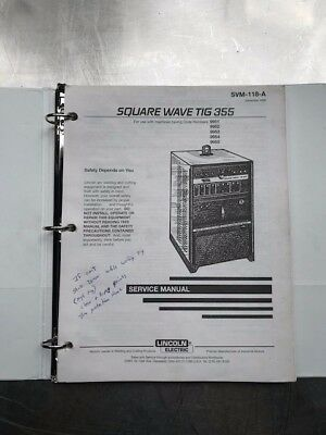 Lincoln Electric Square Wave Tig 355 Service Manual SVM118A