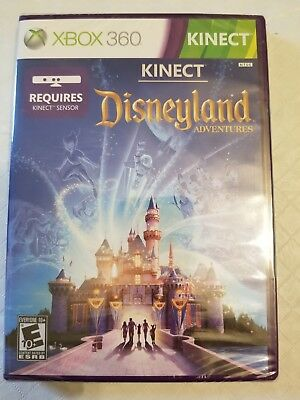 "Xbox 360 Kinect Disneyland Adventures  ""35 Disney Characters"" BRAND NEW SEALED"