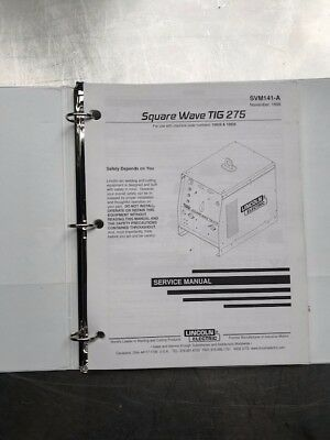 Lincoln Electric Square Wave Tig 275 Service Manual SVM141A
