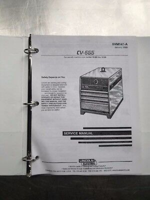 Lincoln Electric CV 655 Service Manual SVM147A