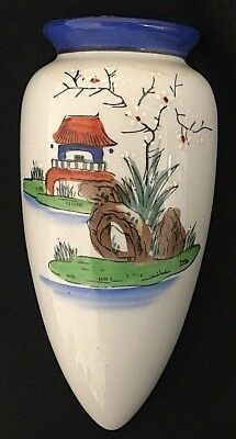 Goldcastle Wall Vase Handpainted Italy