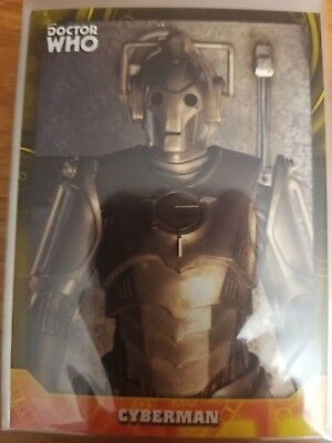2017 Doctor Who Signature Series #78 Cyberman YELLOW 04/25 NrMint-Mint
