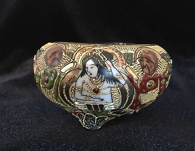 Small Antique Vantine's Japanese Moriage Porcelain Bowl ~ Gorgeous!