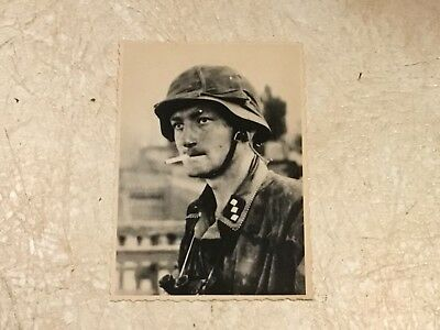 RARE KGB SEIZED  WW2 PHOTO Nazi soldier smoking KGB archive stamped hand signed