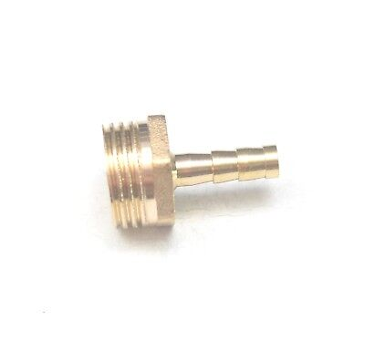 Straight 6MM ID Barb x 1/2 BSPT British Male Fitting Brass Water Oil Gas Air
