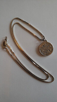 """""""Harley Davidson Motor Cycles"""" - Silver Pendant Charm with 18"""" Necklace"""