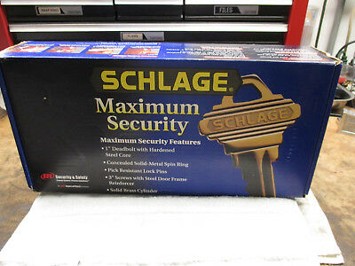 Schlage Max Security Brass Entrance Handle Lock Set #f360-Ply-605Orb