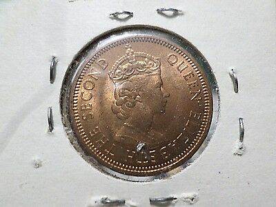 British Mauritius 2 Cent BU Uncirculated Coin, 1955, Y-26. FREE GLOBAL SHIPPING