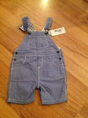 BNWT Petit Bateau Striped Dungaree - Size 12 Months