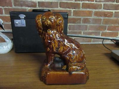Antique Bennington Rockingham Spaniel Dog Figure