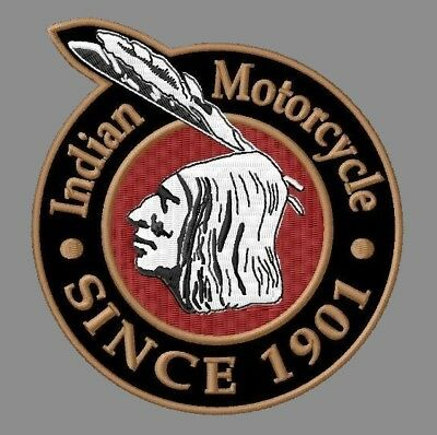 "INDIAN MOTORCYCLE XL EMBROIDERED BACK PATCH 13-1/8"" x 11"" SINCE CHIEF SCOUT V2"