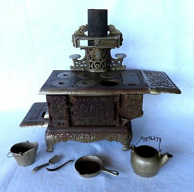 Kenton Cast Iron Toy Nickel Plated Stove Late 19th c.